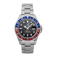 Rolex GMT-Master II Pepsi Auto 40mm Steel Mens Oyster Bracelet Watch Date 16710