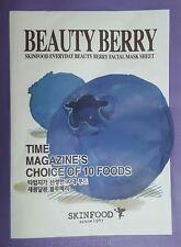 SKINFOOD Everyday  Beauty Berry Facial Mask  Sheet prevent skin damage piel cara