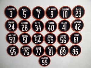 Chicago Bears Magnets - Pick players - Jersey design - Legendary Bears magnets