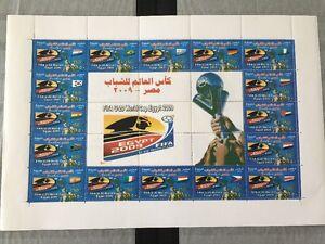 Egypt 2009 MNH Stamp Sheet soccer U20 World Cup