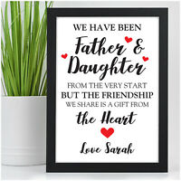 PERSONALISED Daddy and Daughter Christmas Gifts for Daddy Dad from Daughter