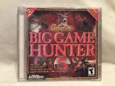 Activision Cabela's Big Game Hunter 5 PC Video Game - 2 CD Set! New & Sealed F56