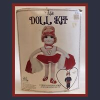 Vintage The Gingham Goose  DOLL KIT #501 Cheerleader/Jogging Suits - NEW In Pkg