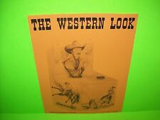 Vending Int. The WESTERN LOOK Original Arcade Game Cowboy Arm Wrestling Flyer