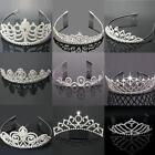 Pageant Wedding Bridal Crown Crystal Rhinestone Princess Silver Jewelry Tiara US