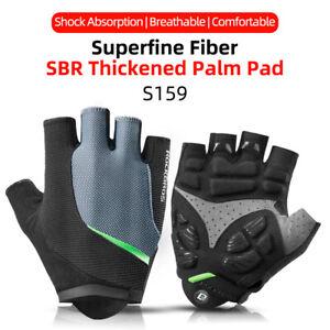 ROCKBROS Sports Cycling Gloves Bike Bicycle Gel Pad Half Finger MTB Gloves