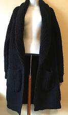 J CREW Collection Bonded Wool Sweater-Jacket XS/S Navy #b5873 $448