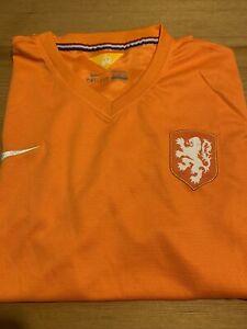 KNVB NETHERLANDS HOLLAND DUTCH NIKE T SHIRT ORANGE XL Large football