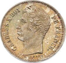 O4582 RARE 1/4 Franc Charles X 1828 A PAris Argent FDC ->F offre
