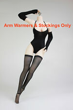 """1/6 Scale Arm Warmers Stockings For 12"""" PHICEN TBLeague Female Figure ❶USA❶"""