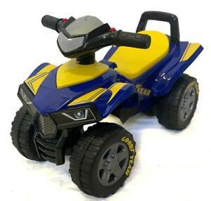 Licensed Goodyear Kids Quad Bike Ride On Sports ATV Walker Push Car Toy Toddler