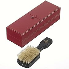 ROYAL HANDMADE EBONY WOOD PURE WHITE INDIAN BRISTLE HAIR BRUSH KENT BRUSHES