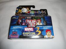 Marvel Minimates Sentinel & 1st Appearance Ryu Marvel Vs Capcom Toys R Us Wave 2