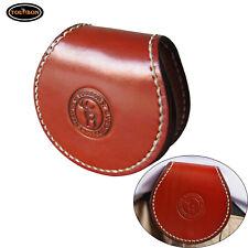 Tourbon Leather Purse Coins Holder Zipper Wallet Case Changes Pocket Hand-stitch