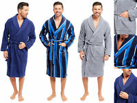 Mens Towel Bathrobe Dressing Gown Cotton Hotel Spa Towelling Terry Shower 3 Size