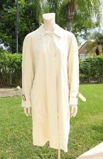 BURBERRY PALE YELLOW BELT DETAIL CUFF BUTTON FRONT LIGHT TRENCH COAT Sz 10