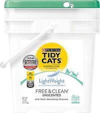 New listing Tidy Cat LightWeight Low Dust Clumping Litter Unscented Pail Activated Charcoal
