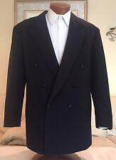 Stunning Hugo Boss Black 100s DB Mens Tuxedo Suit Suspenders Sz 42 L Excellent!