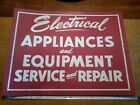 VTG Electrical Appliances And Equipment Service And Repair Red Sign photo