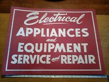 VTG Electrical Appliances And Equipment Service And Repair Red Sign