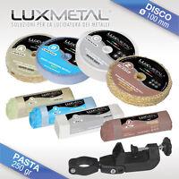 kit 03/100 lucidare lucidatura pulire metallo cromatura acciaio inox alluminio