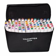 80 Color Markers Pen Touch New Graphic Art Sketch Twin Tip Point General Design