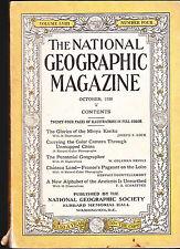 National Geographic October 1930 Minya Konka China Chateau Land   FREE US S/H