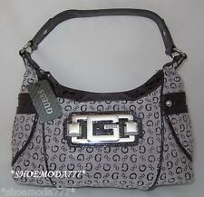GUESS ODELIA Logo Signs Primary Small Shoulder Top Zip Bag Purse Signature New