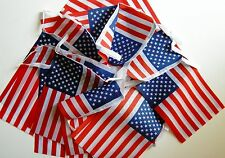 Super USA America Stars and Stripes Fabric Bunting 36ft / 11.m 40 Flags Olympics