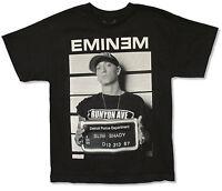 Eminem Wanted Mugshot Black T Shirt New Adult Official Merch Slim Shady