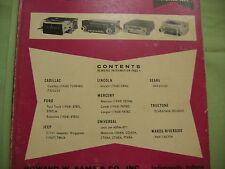 SAMS AUTO RADIO MANUAL(AR56)FIRST EDITION PRINTING-NOV.1968 AND EXTRA