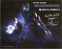 Steve Blum (Sub-Zero) Signed Mortal Kombat 8x10 Photo Inscribed w/ Quote COA