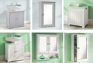 Bathroom Sink Cabinet Vanity Unit White Basin Toilet Storage Furniture Door Sink