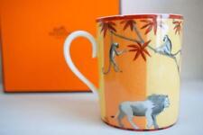 Hermes Porcelain Africa Mug Cup Animal Orange Tableware Ornament Auth New Rare