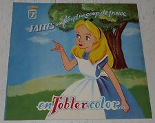 ALBUM VIDE CHOCOLAT TOBLER 1952 ALICE PAYS DES MERVEILLES TOBLER-COLOR DISNEY