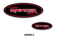 Ford Oval Logo Decal 2PK Set for F-150 RAPTOR SVT Sticker Overlay 09-16 RED