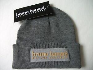Bruno Banani - moderne,angenehme,graue Herren Mütze NEU