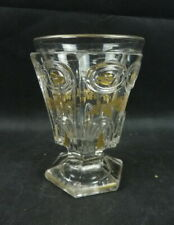Ancien Verre Cristal Charles X Feuille Or 19 th Antique Glass XIX EME Baccarat ?