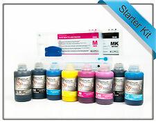 Refillable Starter kit for Epson Stylus Pro 4000 refill Cartridges + 250mls Inks