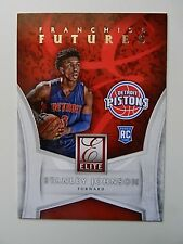 2015-16 STANLEY JOHNSON DETROIT PISTONS ELITE FRANCHISE FUTURES CARD #8.