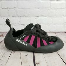 Boreal Womens Shoes Size 5.5 Uk 3 Rock Mountain Climbing Black Pink Shoes