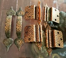 1950'S HAMMERED COPPER HINGES AND PULLS