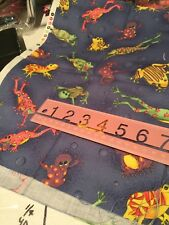 Blue Frog Fabric 1/3 Yard Quilting Cotton I Spy With Eyes F16