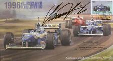 1996 C WILLIAMS-RENAULT FW18s & FERRARI F310 F1 COVER firmato Damon Hill