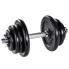 Manubrio con pesi in ghisa 25kg palestra set peso fitness bilanciere nero