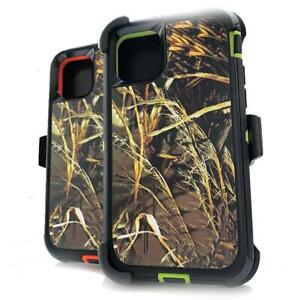 For Apple iPhone 11 11 Pro Max Camo Real Tree Case Cover with Holster Belt Clip