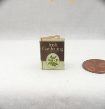 IRISH GARDENING AND HORTICULTURE Miniature Book Dollhouse 1:12 Scale Readable