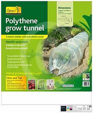 2 X POLYTHENE TUNNEL CLOCHE GREENHOUSE GARDEN GROW PROTECT PLANTS VEGETABLES