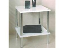 Haku Möbel 90338 table D'appoint Tube D'acier/mdf Chromé/blanc 39 x 47 cm