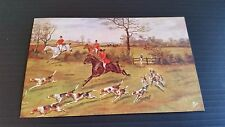 Horse Postcard - TUCK-3302 HUNTING (GOOD CONDITION)